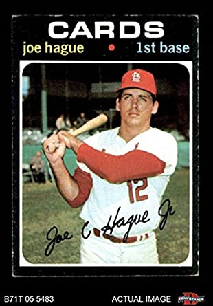 f6af4d20f7c 1971 Topps   96 Joe Hague St. Louis Cardinals (Baseball Card) Dean s Cards