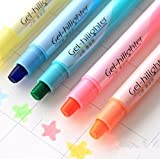 JXTZ Pack of 6 Pcs Cute Cool Novelty Candy Color Solid Jelly Highlighter Pen Office School Supplies Students Children Gift