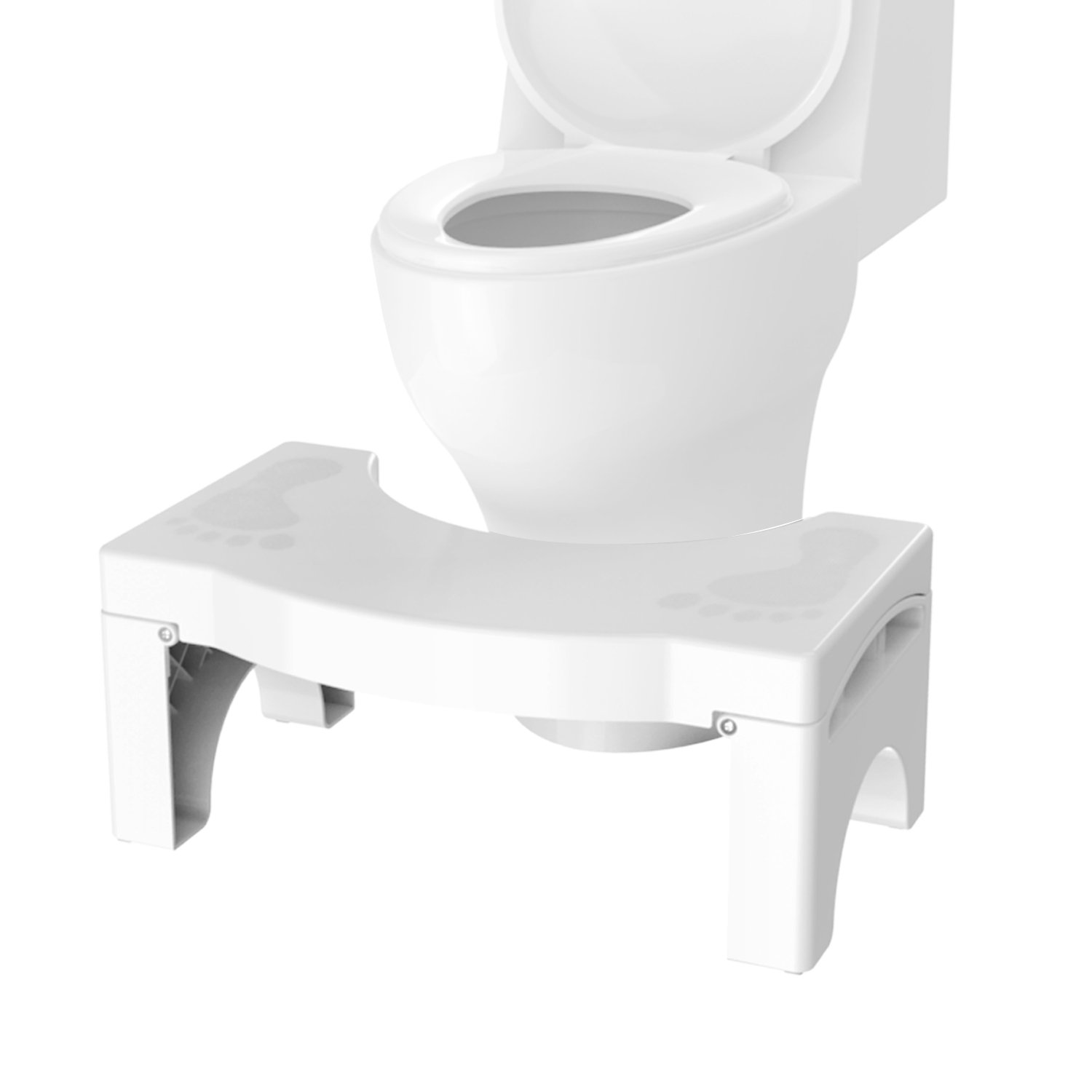 Toilet Stool 7 inch - Portable and Foldable Bathroom Squatting Stool for Toilet and Potty - Poop Stool for Kids and Whole Family - Doctor Recommended