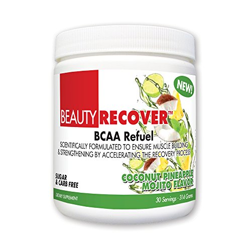 BeautyFit BeautyRecover, BCCA Refuel For Women, Coconut Pineapple Mojito, 314 grams (30 -