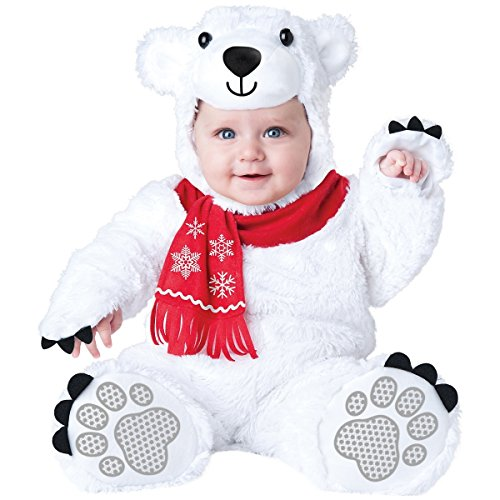InCharacter Costumes Baby's Lil' Polar Bear Costume, White, -