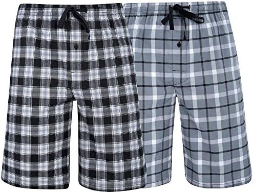 Hanes Men's /& Big Men's Woven Stretch Pajama Shorts 2 Pack