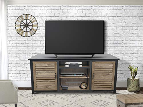 INNOVEX CF473WGM TV Stand with Storage, Golden Maple