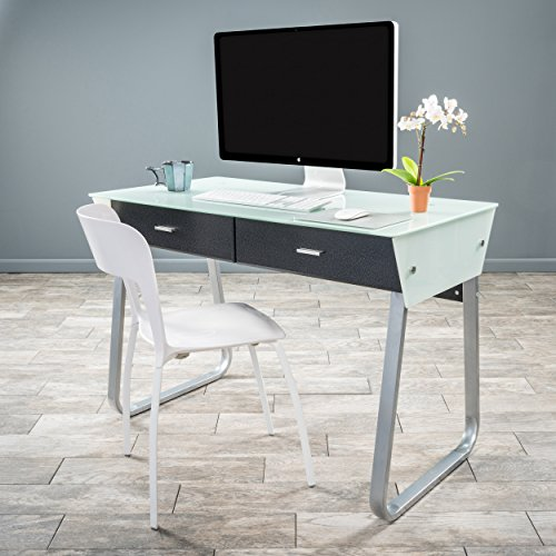 - Christopher Knight Home 295571 Omega Computer Desk White/Black