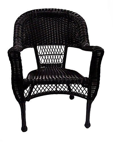black resin wicker chair - 1