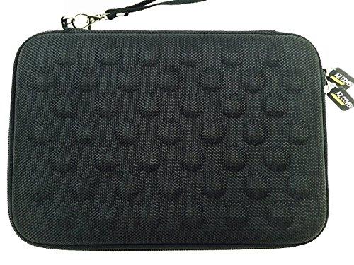et Semi-rigid EVA Bubble Foam Case (BLACK) With Wrist Strap For HP 7 1800 / 7 Plus 7-Inch 8 GB Tablet G2-1311 G2-1331 + One Capacitive Stylus Pen ()