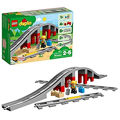 LEGO DUPLO Train Bridge and Tracks 10872 Building Blocks (26 Pieces): Toys & Games