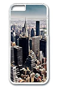 Brian114 Aerial View Of New York City Tilt Shift Photography Phone the Case For Iphone 6 Plus (5.5 Inch) Cover Clear