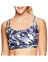 Gaiam Women's Strappy Wireless Sports Bra - Medium Impact Racerback Workout & Yoga Bralette