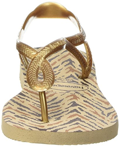 Havaianas Sandalias Mujer Luna Animals Beige (Sand Grey/New Gold 8765)