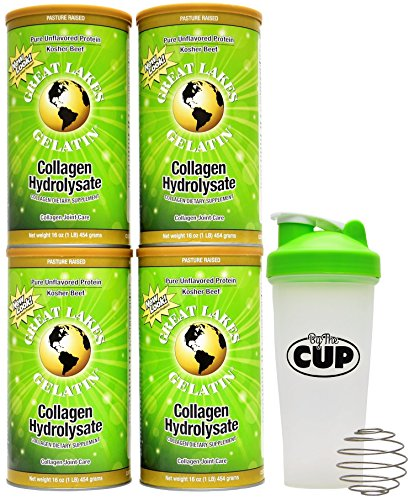 Great Lakes Gelatin, 4 Collagen Hydrolysate 16-Ounce Cans...