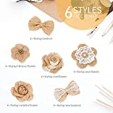 24PCS Handmade Natural Burlap Flowers, Include