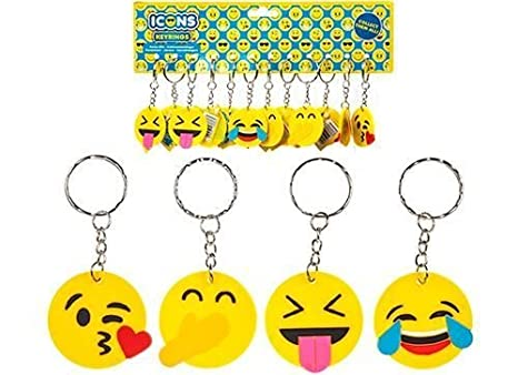icons 1 llavero de goma de 4 cm de Squishy Emoji, 1 ...