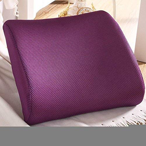Excellent Purple Memory Foam Lumbar Back Support Cushion Pillow Home Office Car Seat Chair