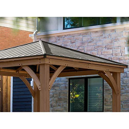 Amazon Com Gazebo With Aluminum Roof By Yardistry Cedar Wood 12 X