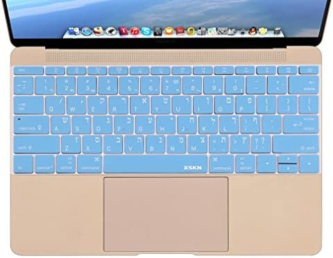 English Language Letter Silicone Keyboard Cover for MacBook Air 12 Inch A1534 Protector Sticker 12 Film Us Version-Purple