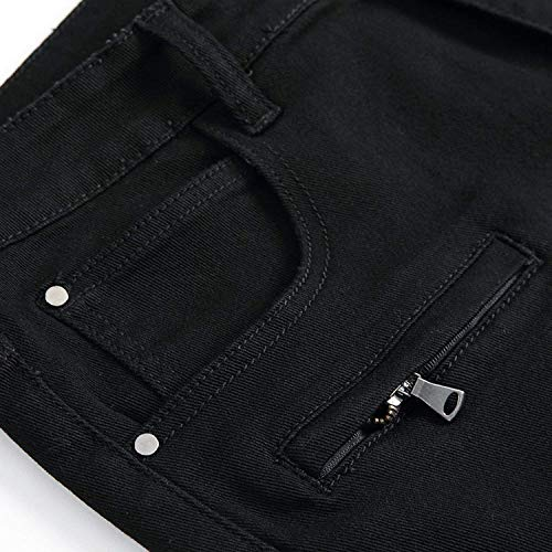 Skinny Agujeros Destruido Shorts Para White Usados Jeans Denim look 1 Clásico Hombres De Pantalones Chicos Fit Slim Con Verano Stretch Chern Cortos Mezclilla OwCq4zxUY