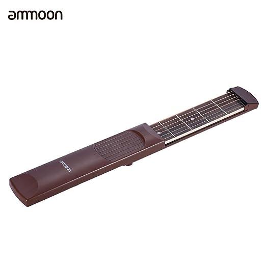 2 opinioni per ammoon Tasca Chitarra Portatile Acustica di Pratica 6 String 6 Fret Modello