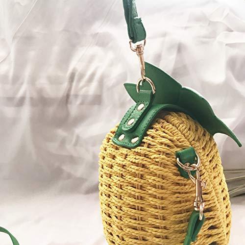 LAAT Bolsa de Forma de pi/ña Bolsa de Paja Bolsa de Playa Amarilla