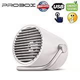 Mediasonic ProBox USB Fan, Desk/Table Fan for Home and Office (Touch Control, and Ultra Quiet) (White)