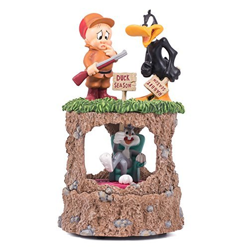 bugs-bunny-daffy-duck-elmer-fudd-collectibe-looney-tunes-resin-stone-musical-figurine-plays-tune-the