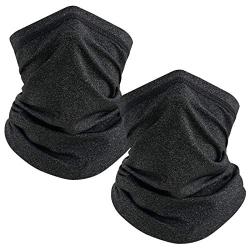 TICONN Neck Gaiter (2 Pack), Outdoor Breathable Face Cover, Ideal for Hiking Running Cycling Motorcycle Ski Snowboard