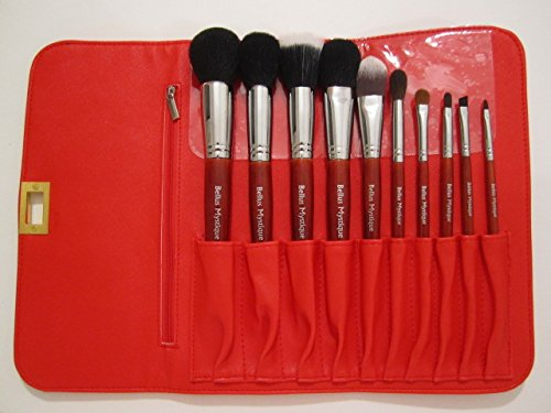 Bellus Mystique 10 Piece Professional Luxury Makeup Brush Set with Leather Pouch