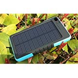 Sunyounger™ 8000mAh Portable Power Bank Shockproof Waterproof Dustproof Solar Charger 5v 200mA Solar Panel Dual USB Port Portable Charger Backup External Battery Power Pack for iPhone 6 Plus 5S 5C 5 4S 4, iPad Air Mini, iPods(Apple Adapters not Included), Samsung Galaxy S5 S4 S3,Note 4 3 2, Nexus, HTC, Android Phones,Windows phone, Bluetooth Speakers, MP3, Tablets and Other Devices Blue Color