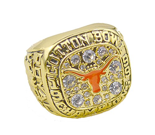 - for YIYICOOL fans' collection 1999 Texas Longhorns College Football Cotton championship rings size 10