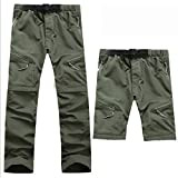 Evere Men Mountain Pants Convertible Lightweight Outdoor Sports Quick Dry Cargo Trousers for Hiking Fishing Camping