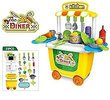 Buy Saiyanshi Latest Trendy Compact Kitchen Set With Wheels For