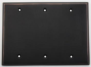 Box Mount Standard Size Thermoplastic Nylon Leviton 80735-GY 3-Gang No Device Blank Wallplate Gray