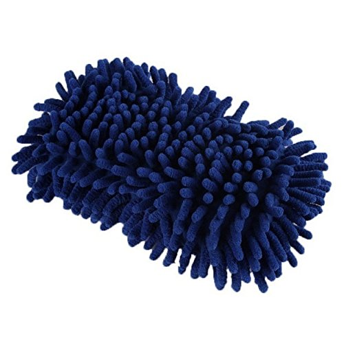 Gants de lavage de voiture - SODIAL(R)Gants serviette douce en microfibre Chenille pour lavage de voiture blouson ouatine de corail 70%OFF