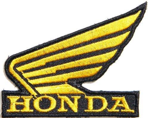 Honda Logo Patch - Honda Wing Motorcycles Biker Motogp Jacket Shirt T-Shirt Patch Sew Iron on Logo Embroidered Badge Sign Emblem Costume