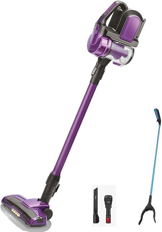 Aspiradora sin cable Stick con recogedor de literas gratuito-1500W Aspiradora ciclista de bolsillo sin bolsa