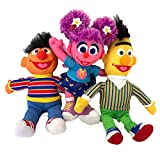 Sesame Plush Toy Set of 3 Bert Ernie and Abby