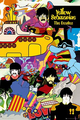 The Beatles Yellow Submarine Poster Rolled 24 x 36  PSA03422