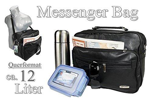 bolso business cubierta vuelo de Bag Trabajo de compañero nuevo Funda Black imitación maletín Funda hombro Messenger de piel CqxBwAP