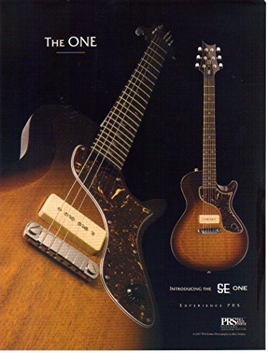 2007 Paul Reed - Magazine Print Ad: 2007 The SE One, PRS Paul Reed Smith Guitars,