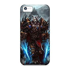 DrawsBriscoe Iphone 5c Perfect Hard Cell-phone Cases Allow Personal Design Colorful World Of Warcraft Skin [MGT17988JLsT]