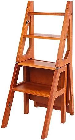 Sillas de Comedor de Madera Plegables al Aire Libre (Uso Doble) Silla de Escalera Creativa Patio | con Acabado Natural (Color : Style B): Amazon.es: Hogar