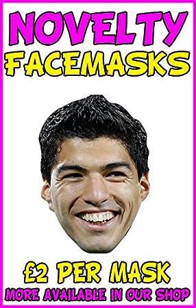 Card Face and Fancy Dress Mask Luis Suarez Celebrity Mask