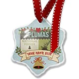 Add Your Own Custom Name, National US Forest Plumas National Forest Christmas Ornament NEONBLOND
