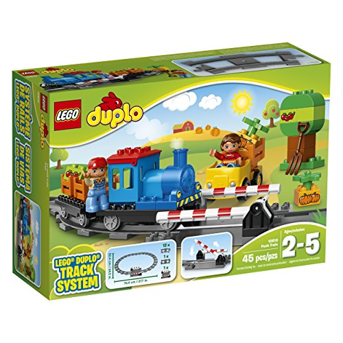 LEGO DUPLO Town Push Train 10810, Preschool, Pre-Kindergarten Large Building Block Toys for Toddlers