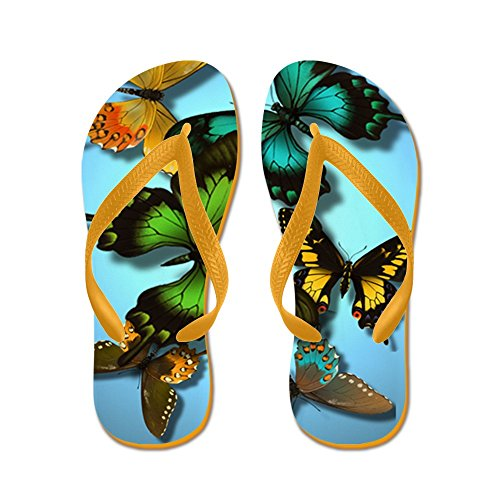Papillons Cafepress - Tongs, Sandales String Sexy, Sandales De Plage Orange