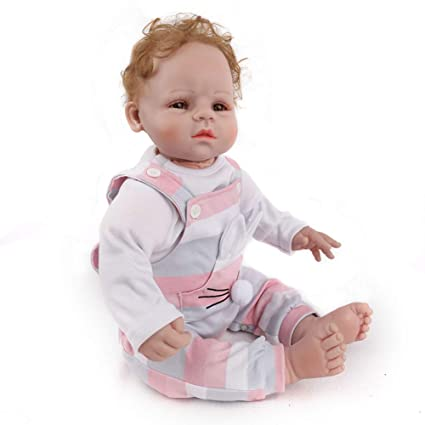 Pink Clothes Handmade 20inch Baby Doll Soft Vinyl Silicone Reborn Boy Doll