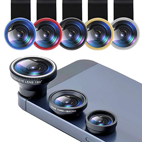 Bigmai 3 in 1 Phone Lens Kit - Macro Lens,Wide Angle Lens,Fisheye, Clip-On Cell Phone Camera Lenses for iPhone Android Samsung Mobile Phones and Tablets (red) by Bigmai (Image #4)