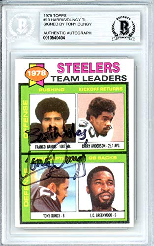 Tony Dungy Pittsburgh Steelers - Tony Dungy Autographed 1979 Topps Rookie Card #19 Pittsburgh Steelers Beckett BAS #10540404