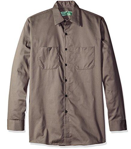 (Red Kap Men's Wrinkle-Resistant Cotton WorkShirt 2, Graphite Grey Large)