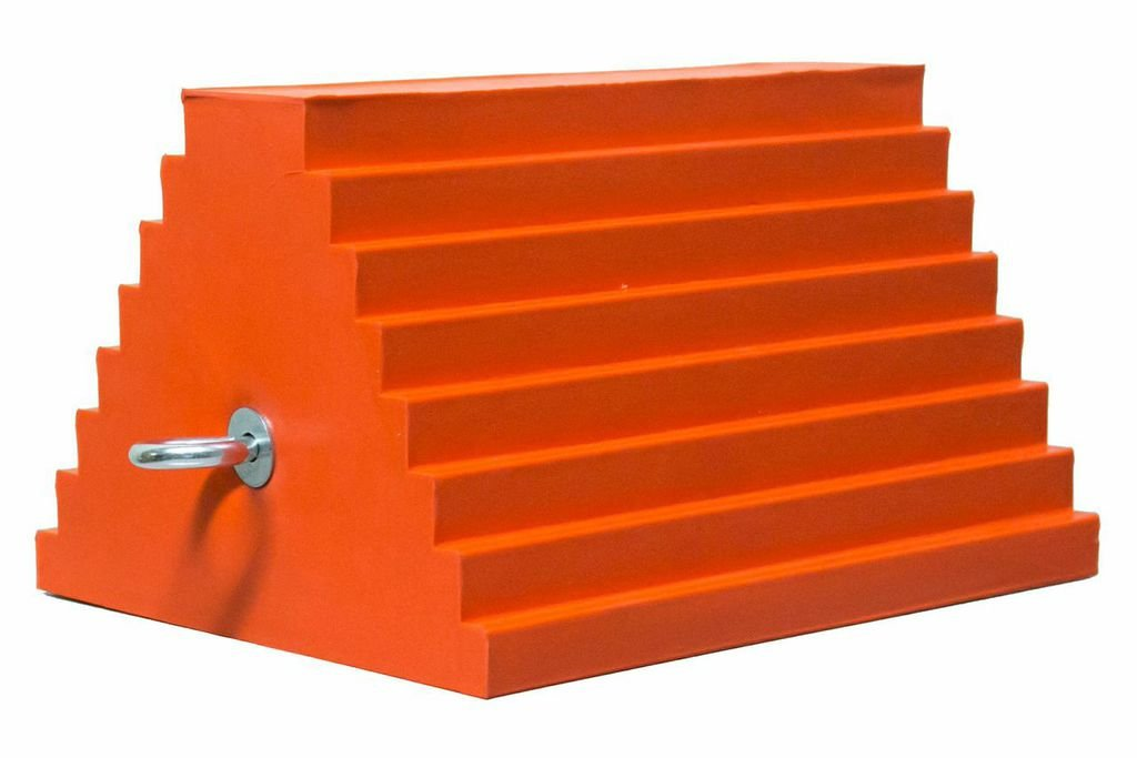 Checkers Industrial Safety Products UCTS003 General Purpose Chock, Light Weight, High-Visibility Orange